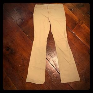 Khaki pants boot cut mid rise